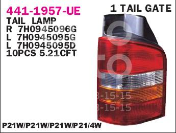 Купить Фонарь задний правый VW Transporter T5 2003-2015; (441-1957R-UE)