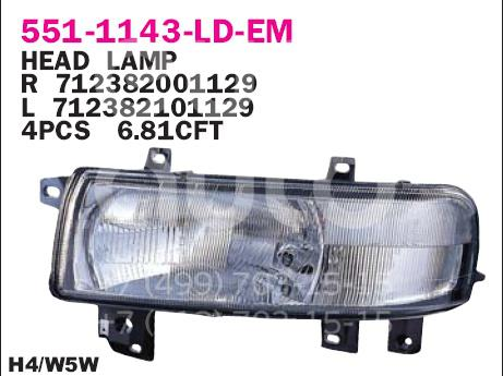 Купить Фара левая Opel Movano 1998-2010; (551-1143L-LD-EM)