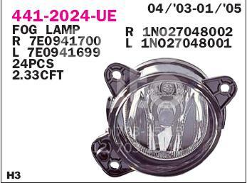 Фара противотуманная левая VW Transporter T5 2003-2015; (441-2024L-UE)  - купить со скидкой