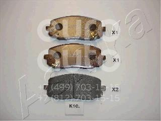 Купить Колодки тормозные передние к-кт Kia Picanto 2004-2011; (50-0K-010)