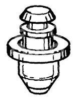 Крепеж (клоп) для VW Lupo 1998-2005 - Фото №1