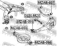 Купить С/блок заднего рычага Mazda Mazda 6 (GG) 2002-2007; (MZAB-037)