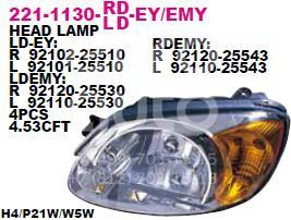 Фара правая для Hyundai Accent II (+ТАГАЗ) 2000-2012 - Фото №1