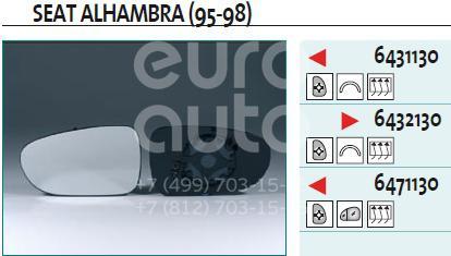 Купить Стекло зеркала электрического правого VW Sharan 1995-1999; (6432130)