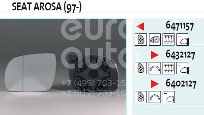 Купить Стекло зеркала электрического правого VW Passat [B5] 1996-2000; (6402127)
