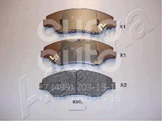 Купить Колодки тормозные передние к-кт Kia Sportage 1993-2006; (50-K0-000)
