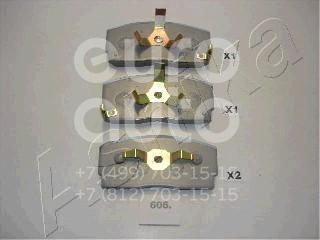 Колодки тормозные передние к-кт для Daihatsu Charade >1993 - Фото №1