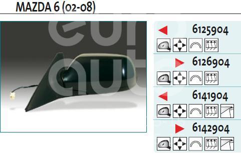Зеркало левое электрическое для Mazda Mazda 6 (GG) 2002-2007 - Фото №1