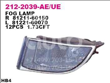 Фара противотуманная правая для Toyota Land Cruiser (120)-Prado 2002-2009 - Фото №1
