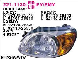 Фара левая для Hyundai Accent II (+ТАГАЗ) 2000-2012 - Фото №1