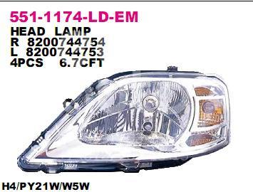 Купить Фара правая Renault Logan 2005-2014; (551-1174R-LD-EM)