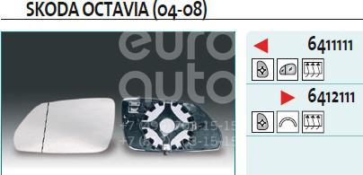 Купить Стекло зеркала электрического правого VW Polo 2001-2009; (6412111)