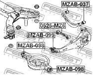 Купить С/блок заднего рычага Mazda Mazda 6 (GG) 2002-2007; (MZAB-098)