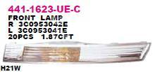 Указатель поворота в бампер правый белый VW Passat [B6] 2005-2010; (441-1623R-UE-C)  - купить со скидкой