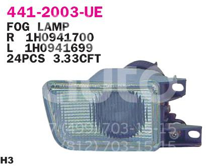 Купить Фара противотуманная правая VW Golf III/Vento 1991-1997; (441-2003R-UE)