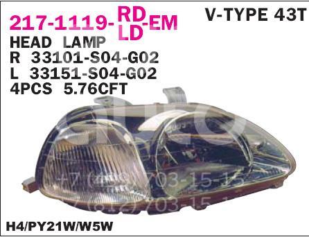 Купить Фара правая Honda Civic (EJ, EK Sed+3HB) 1995-2001; (217-1119R-LD-EM)