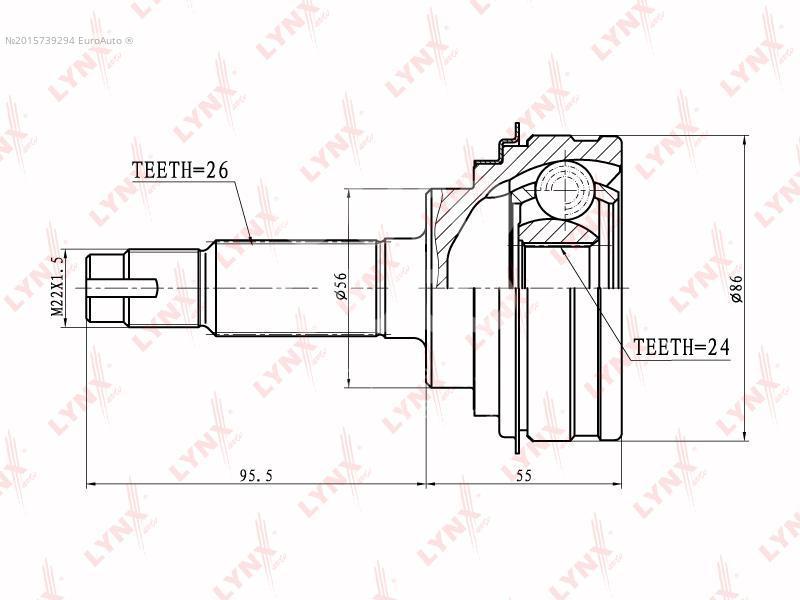 Купить ШРУС наружный передний Toyota Camry 1986-1991; (CO-7508)
