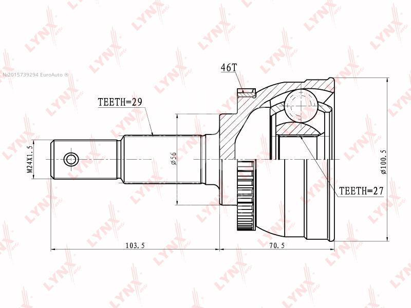 Купить ШРУС наружный передний Nissan Maxima (A32) 1994-2000; (CO-5713A)