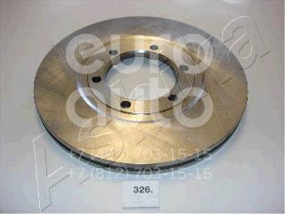 Диск тормозной передний вентилируемый для Mazda E 2000/E 2200 1984-2006 - Фото №1