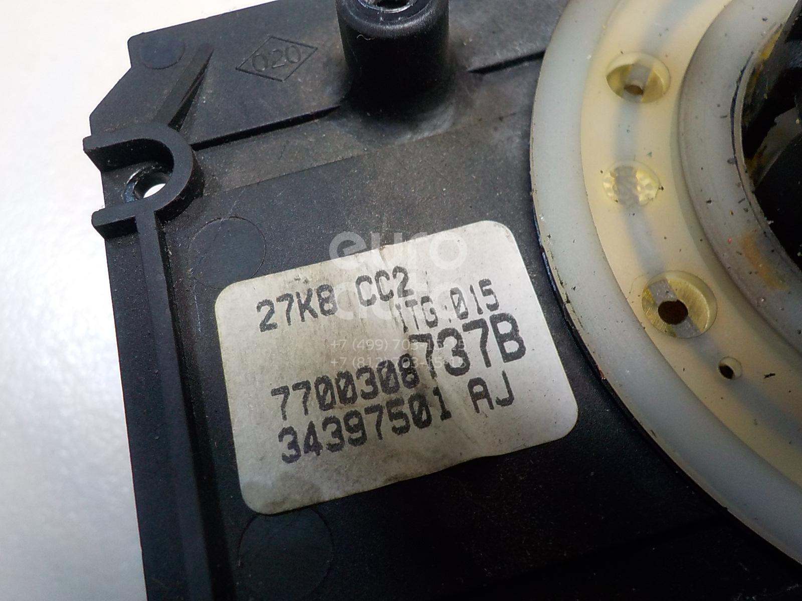 Купить Датчик угла поворота рулевого колеса Renault Kangoo 1997-2003; (7701062203)