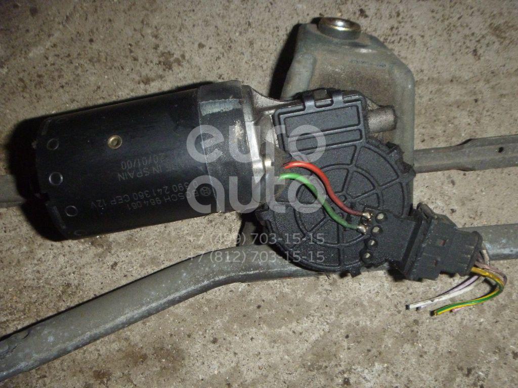 Моторчик стеклоочистителя передний для Peugeot 206 1998-2012 - Фото №1