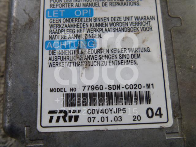 Блок управления AIR BAG для Honda Accord Coupe USA 2003-2008;Accord VII 2003-2008 - Фото №1