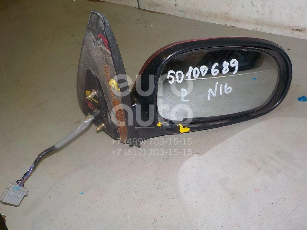 Зеркало правое электрическое для Nissan Almera N16 2000-2006 - Фото №1