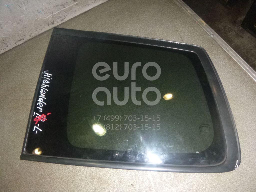 Купить Стекло кузовное глухое левое Toyota Highlander II 2007-2013; (627200E050)