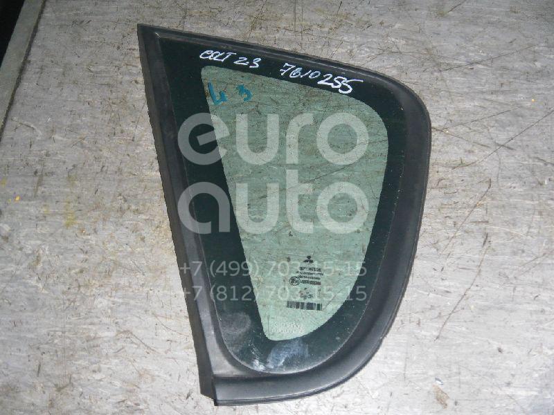 Купить Стекло кузовное глухое левое Mitsubishi Colt (Z3) 2003-2012; (MR957063)