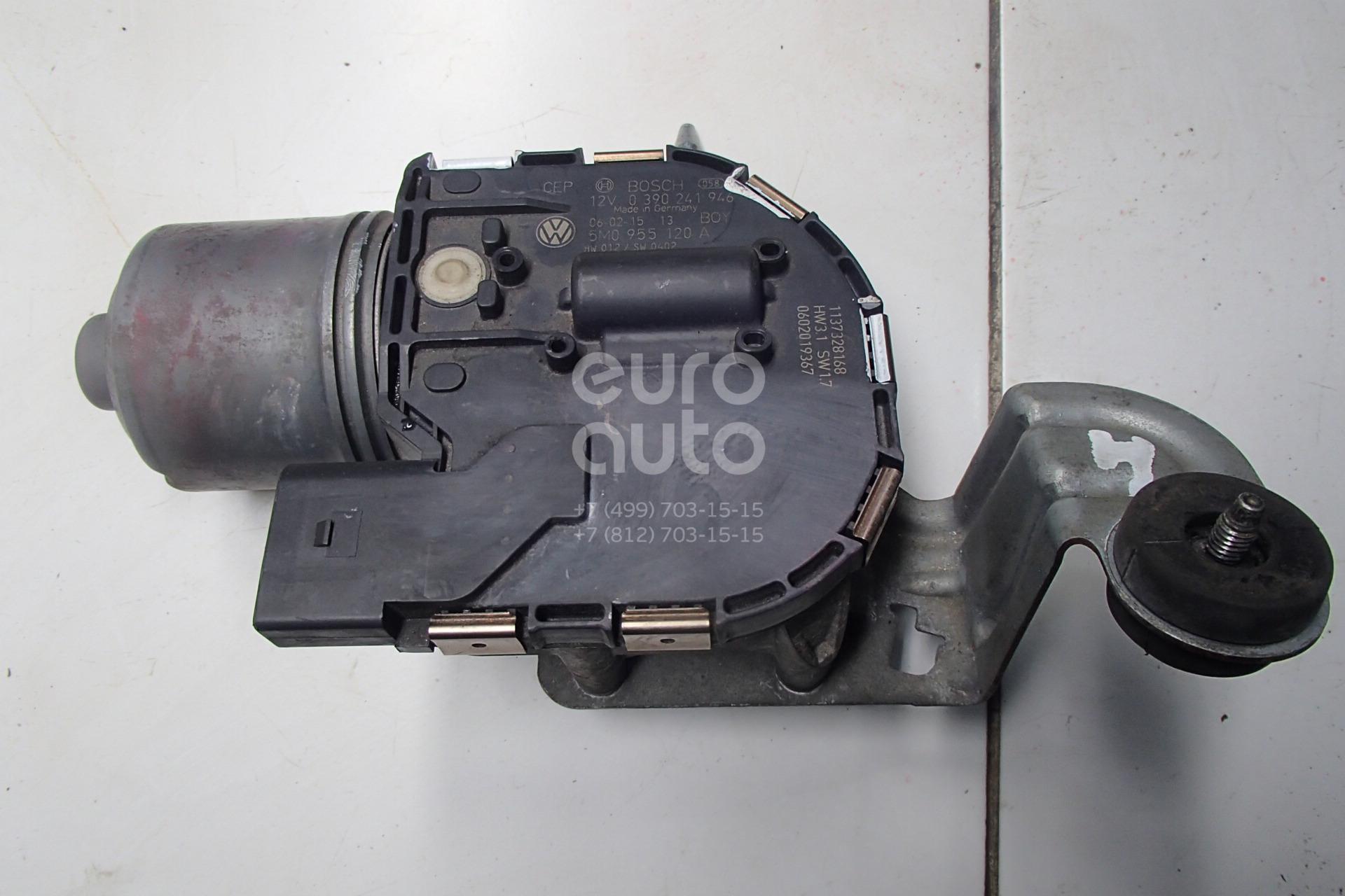 Купить Моторчик стеклоочистителя передний VW Golf Plus 2005-2014; (5M0955120)