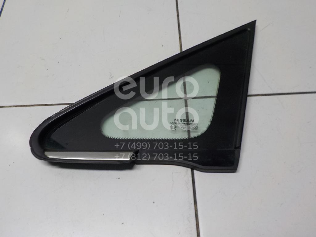 Стекло кузовное глухое левое Nissan Tiida (C11) 2007-2014; (76821ED900)  - купить со скидкой