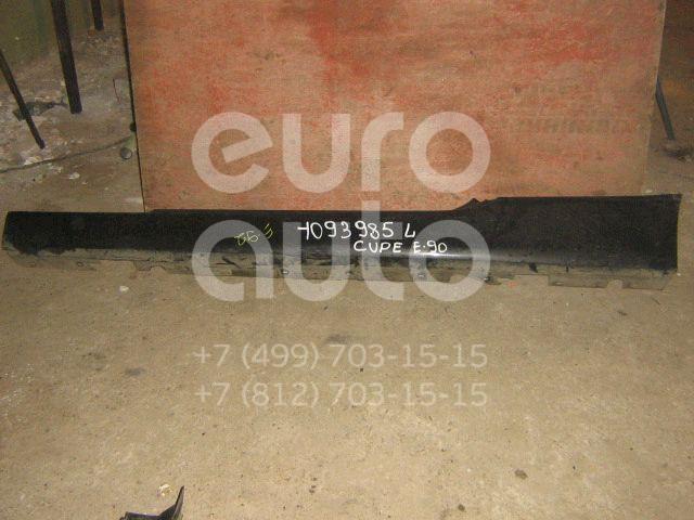 Накладка на порог (наружная) для BMW 3-серия E90/E91 2005-2012 - Фото №1