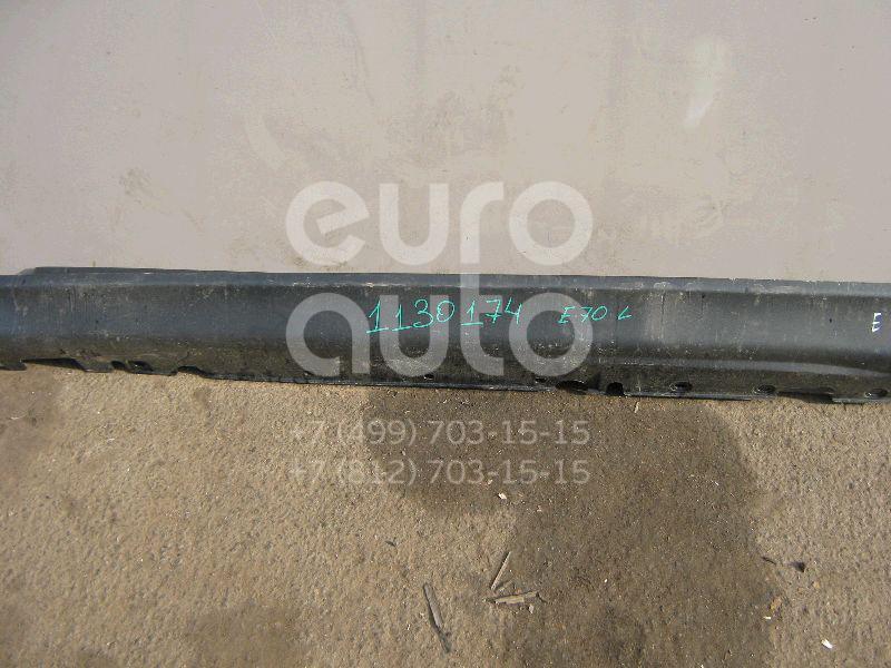 Накладка на порог (наружная) для BMW X5 E70 2007-2013 - Фото №1