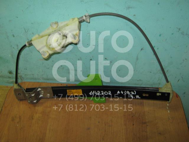 Стеклоподъемник электр. задний правый для Audi,Seat A4 [B6] 2000-2004;A4 [B7] 2005-2007;Exeo 2009-2013 - Фото №1