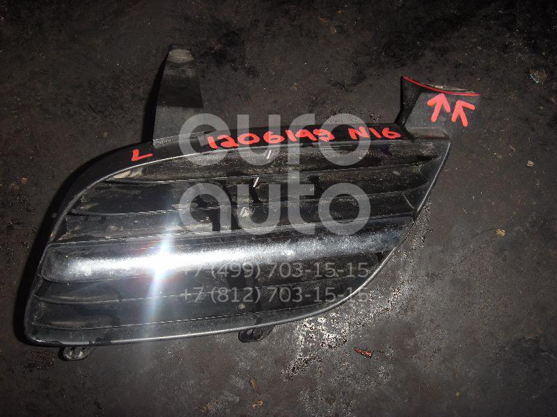 Решетка радиатора левая для Nissan Almera N16 2000-2006 - Фото №1