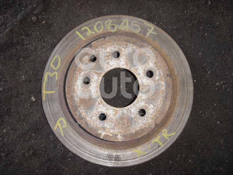 Диск тормозной задний для Nissan X-Trail (T30) 2001-2006;X-Trail (T31) 2007-2014;Koleos (HY) 2008>;350Z 2003>;Qashqai+2 (JJ10) 2008-2014 - Фото №1