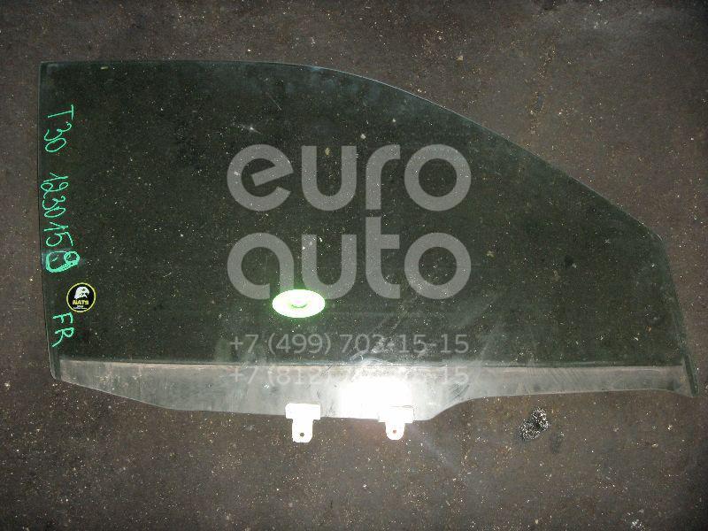 Стекло двери передней правой для Nissan X-Trail (T30) 2001-2006 - Фото №1