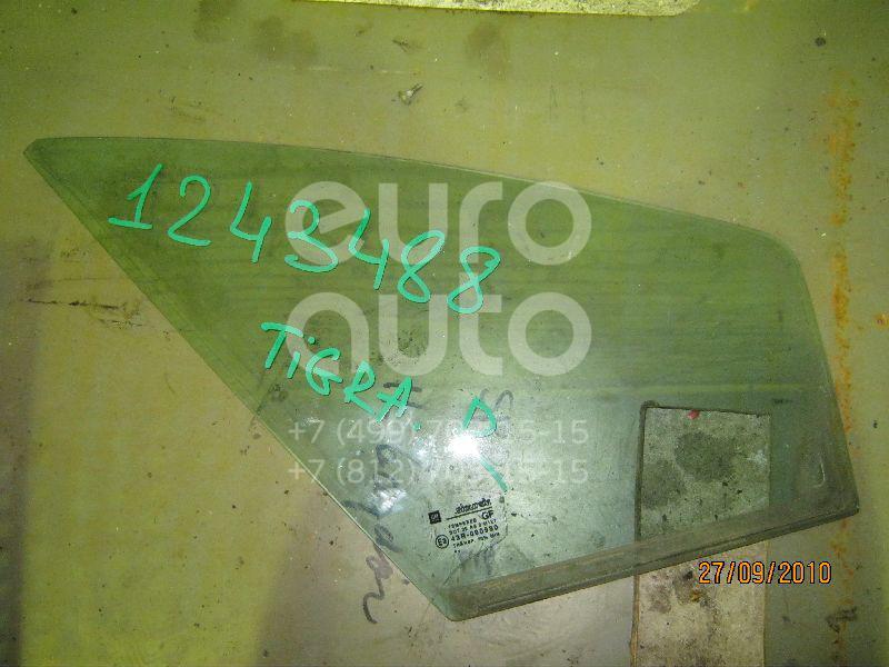 Стекло двери передней правой (форточка) для Opel Tigra 1994-2000 - Фото №1