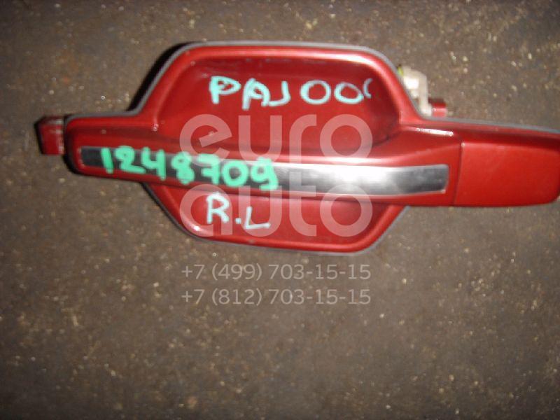 Ручка двери задней наружная левая для Mitsubishi Pajero/Montero III (V6, V7) 2000-2006 - Фото №1
