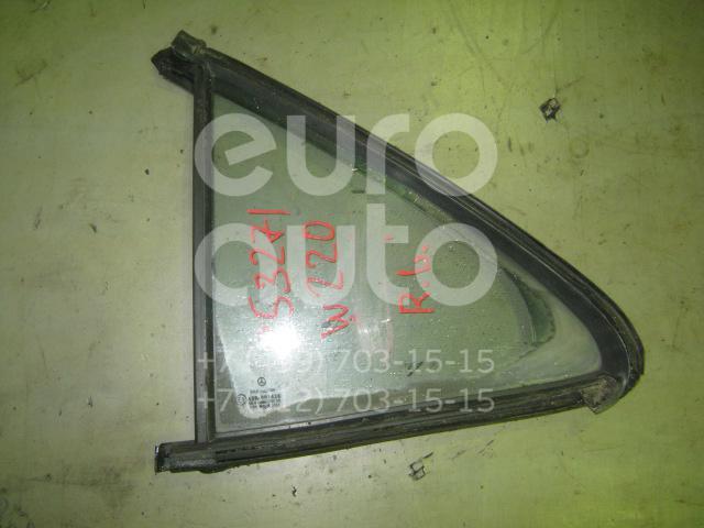 Стекло двери задней левой (форточка) для Mercedes Benz W220 1998-2005 - Фото №1