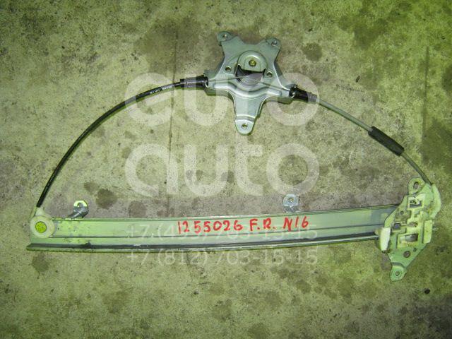 Стеклоподъемник механ. передний правый для Nissan Almera N16 2000-2006 - Фото №1
