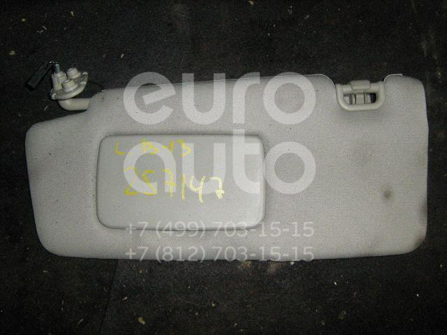 Козырек солнцезащитный (внутри) для Subaru Legacy Outback (B13) 2003-2009 - Фото №1