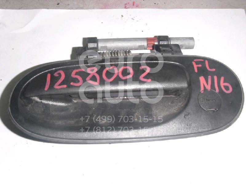 Ручка двери передней наружная левая для Nissan Almera N16 2000-2006 - Фото №1