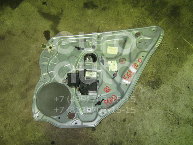 Стеклоподъемник электр. задний правый для VW Polo 2001-2009 - Фото №1