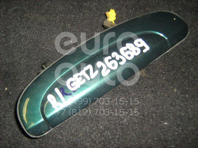 Ручка двери задней наружная левая для Hyundai Getz 2002-2010 - Фото №1
