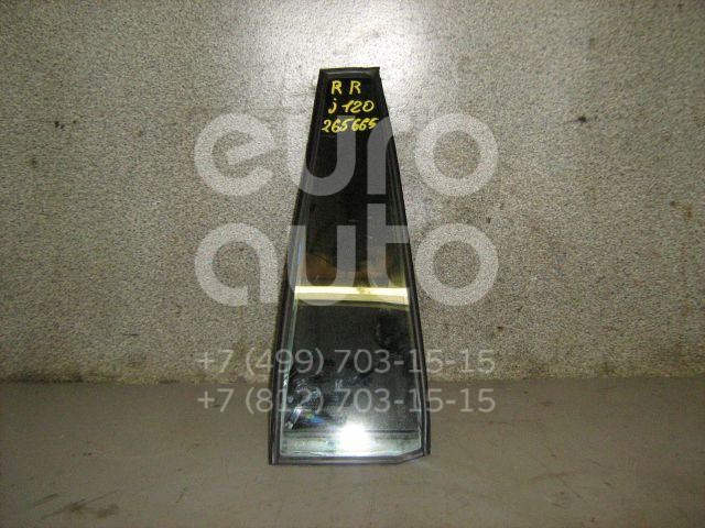 Стекло двери задней правой (форточка) для Toyota Land Cruiser (120)-Prado 2002-2009 - Фото №1