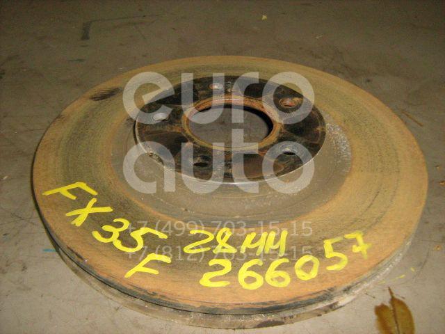 Диск тормозной передний вентилируемый для Infiniti FX (S50) 2003-2007 - Фото №1