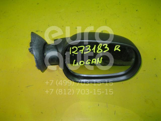 Зеркало правое механическое для Renault Logan 2005-2014 - Фото №1