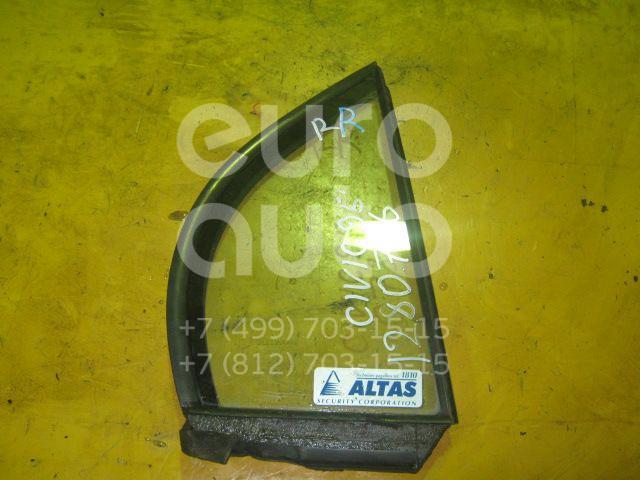 Стекло двери задней правой (форточка) для Honda Civic (EJ, EK Sed+3HB) 1995-2001 - Фото №1