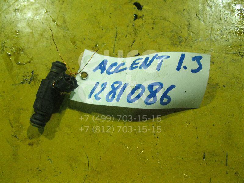 Форсунка инжекторная электрическая для Hyundai,Kia Accent II (+ТАГАЗ) 2000-2012;Getz 2002-2010;Coupe (RD) 1996-2002;Elantra 2000-2005;Matrix 2001-2010;Coupe (GK) 2002-2009;Cerato 2004-2008 - Фото №1